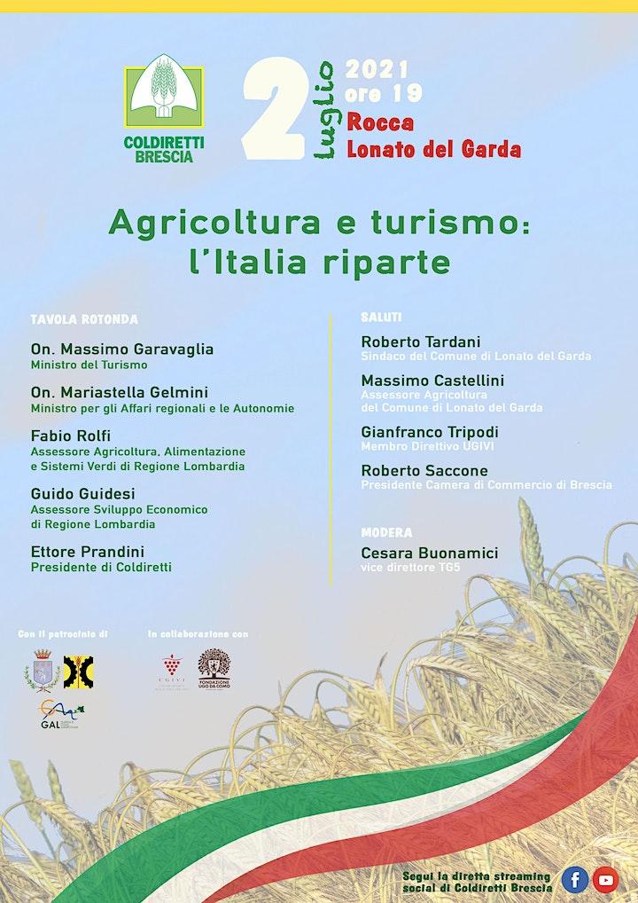 Immagine AGRICOLTURA E TURISMO: L'ITALIA RIPARTE
