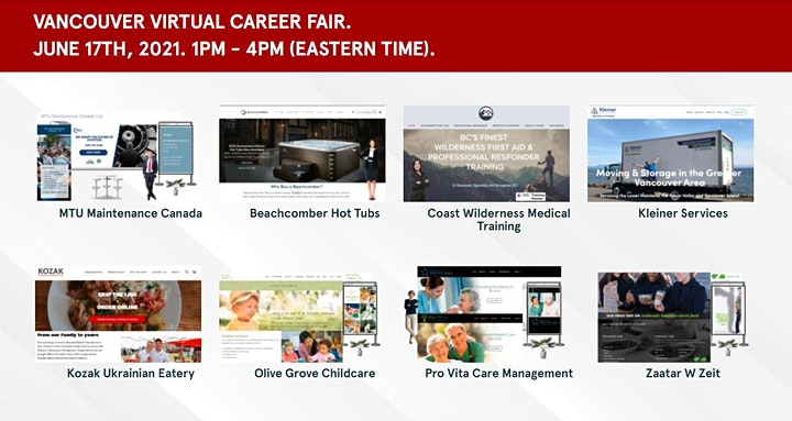Greater Vancouver Virtual Job Fair - September 21st, 2021 image
