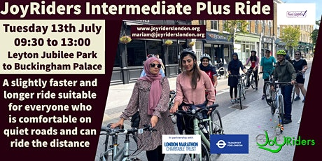 Intermediate Plus Ride: Leyton Jubilee Park to Buckingham Palace tickets
