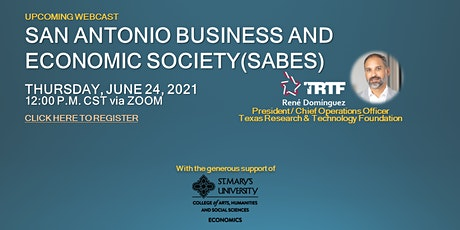 SABES Speaker Presentation: René Domínguez - Texas Research & Technology tickets