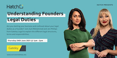 Hatch Presents: Understanding Founders Legal Duties  With Gateley tickets