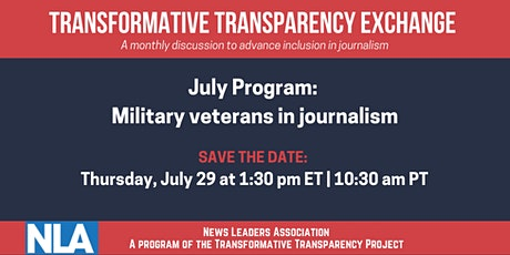 Transformative Transparency Exchange: military veterans in journalism tickets