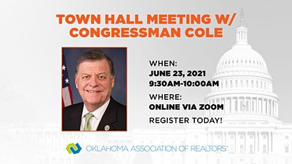Virtual Town Hall Meeting with Congressman Tom Cole tickets