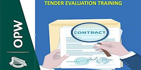 Tender Evaluation Training tickets