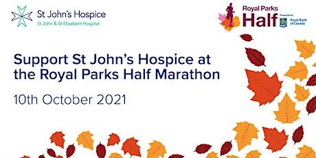 Royal Parks Half Marathon - St John's Hospice Charity Place tickets