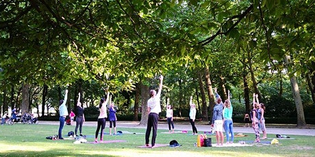 Mindful Yoga and Meditation in the park billets