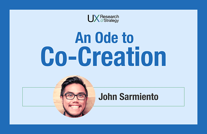 An Ode to Co-Creation: UX Research Method image