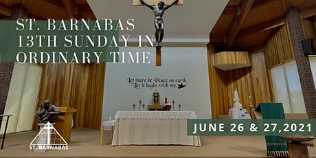 13th Sunday in Ordinary Time Sunday Mass (Last Names Q-Z) tickets