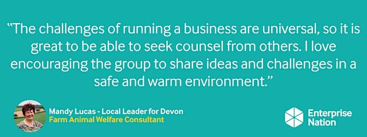 Online small business meet-up: Devon image