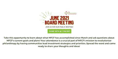 June 2021 Board Meeting tickets