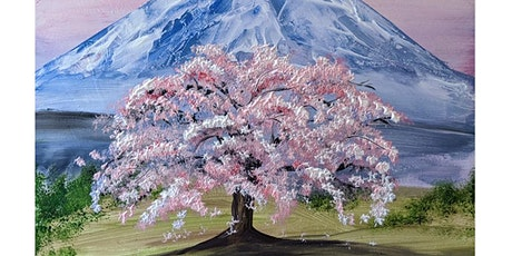 Fun Paint ONLINE, live and friendly - Blossom Tree Mountain tickets