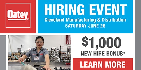 Oatey Cleveland Hiring Event tickets