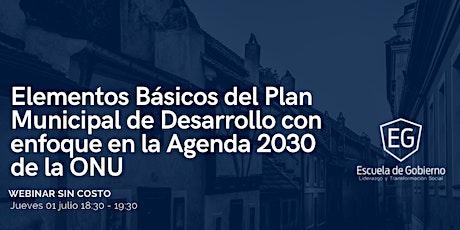 Elementos Básicos del Plan Municipal de Desarrollo / Agenda 2030 ONU entradas