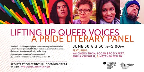 """Pride Literary Panel - """"Lifting Up Queer Voices"""" tickets"""
