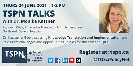 TSPN Talks: Knowledge Translation and Implementation tickets