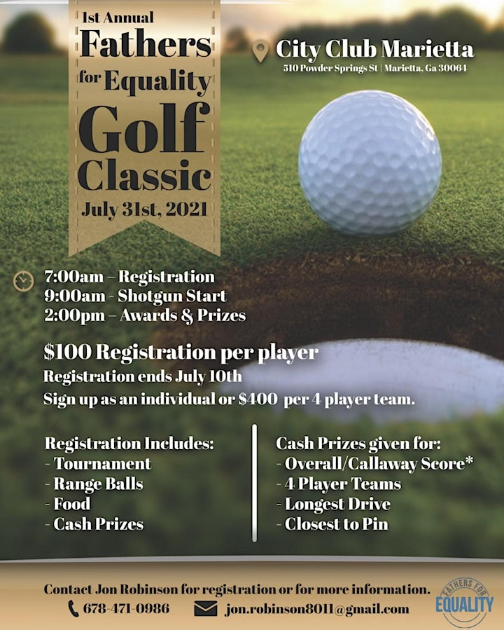 1st Annual Fathers for Equality Golf Classic image