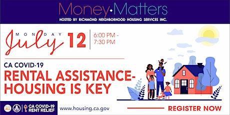 CA COVID-19 Rental Assistance - Housing is Key Webinar tickets