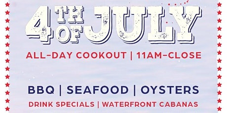 JULY 4TH @ WATERMARK BEACH - ALL DAY BEACH PARTY- ON THE WATER @ PIER 15! tickets