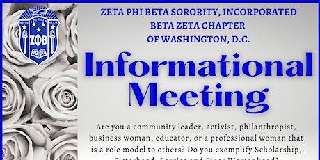 Beta Zeta Chapter Informational Interest Meeting tickets