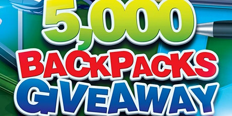 5,000 Backpack Giveaway tickets