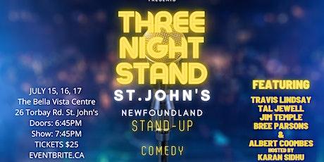 ONE NIGHT STAND ST. JOHN'S tickets