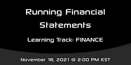 Sargent Academy: Running Financial Statements tickets