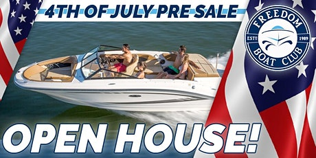 4th of July Pre-Sale Freedom Boating Event! tickets
