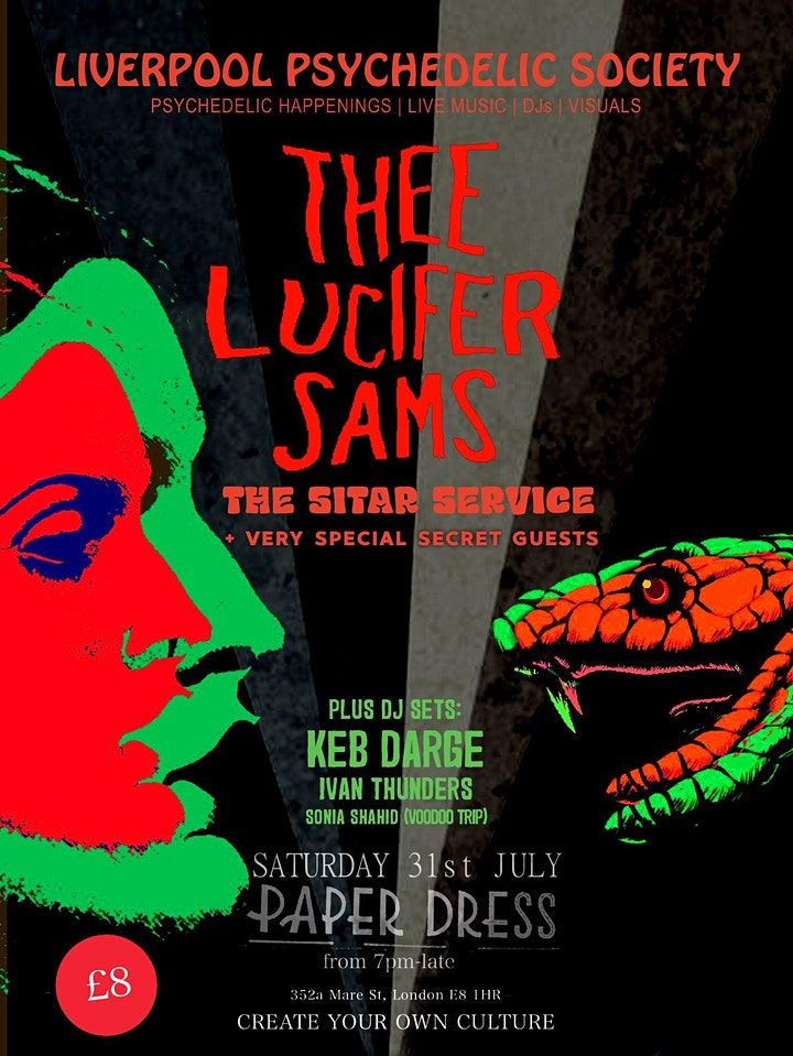 Liverpool Psychedelic Society: Thee Lucifer Sams + Guests **RE-SCHEDULED** image