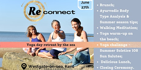 Reconnect, yoga day retreat by the sea tickets
