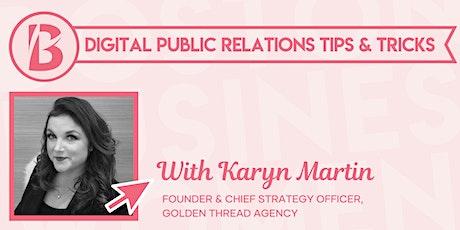 Digital Public Relations Tips & Tricks biglietti