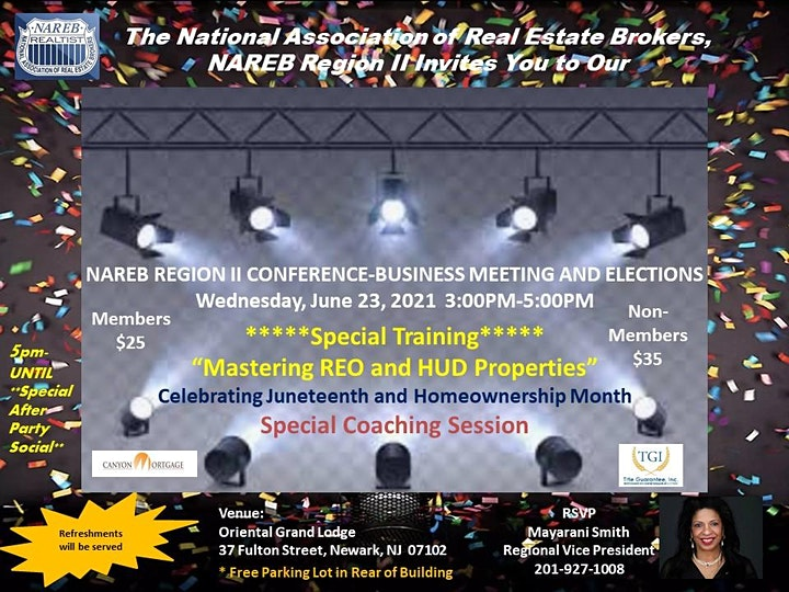 NAREB REGION II CONFERENCE-BUSINESS MEETING AND ELECTIONS image