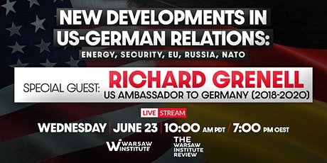 New developments in US-German relations: energy, security, EU, Russia, NATO tickets