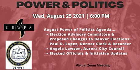 August POWER & POLITICS (Elected Official Registration) tickets