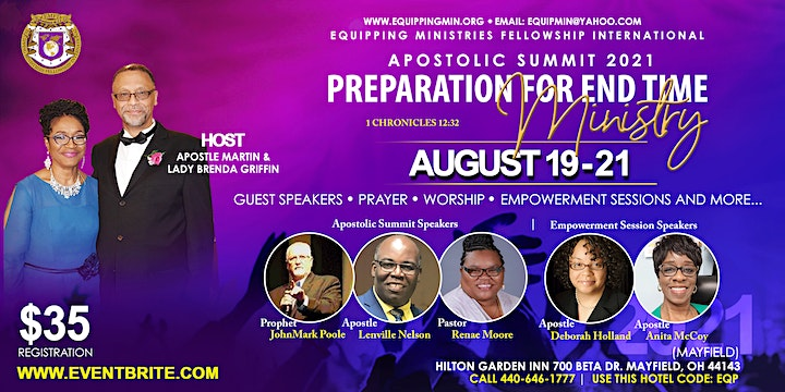 EMFI Summit 2021: Preperation for End Time Ministry image