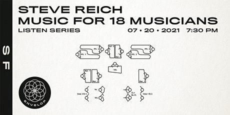 Steve Reich - Music for 18 Musicians : LISTEN    Envelop SF (7:30pm) tickets