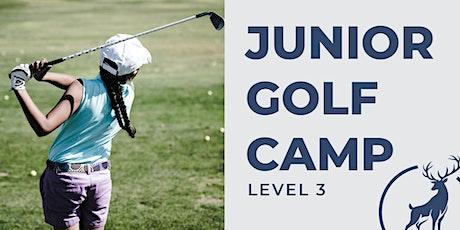 4 Day Junior Golf Camp - $135 - Level 3 tickets