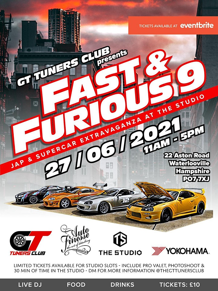 GT Tuners Club - Fast & Furious - Jap & Supercar Extravaganza @ the Studio image
