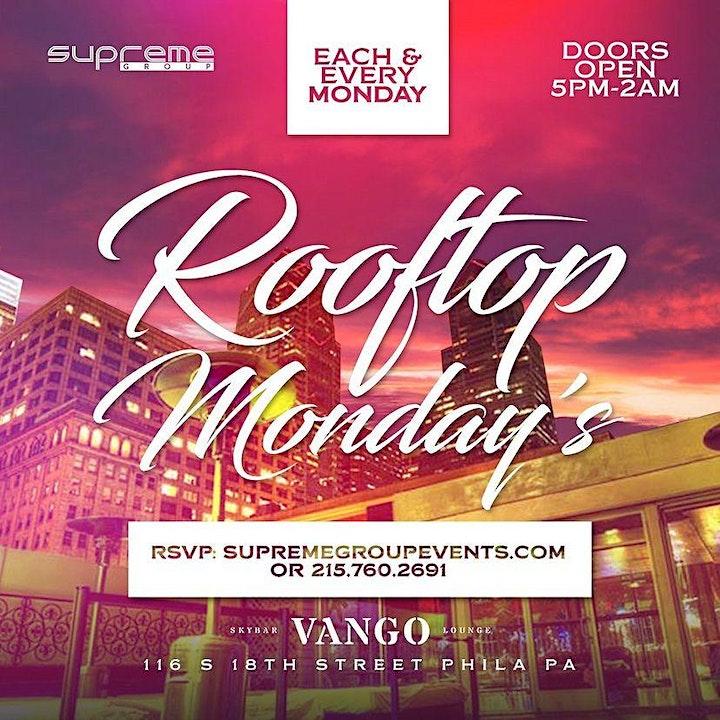 RoofTop Mondays @ Vango Lounge June 21st 5pm-2am image