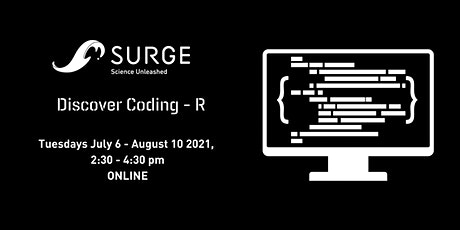 SURGE Discover Coding - R Summer 2021 tickets