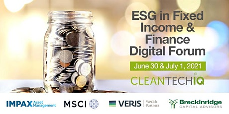 ESG in Fixed Income & Finance Forum ingressos