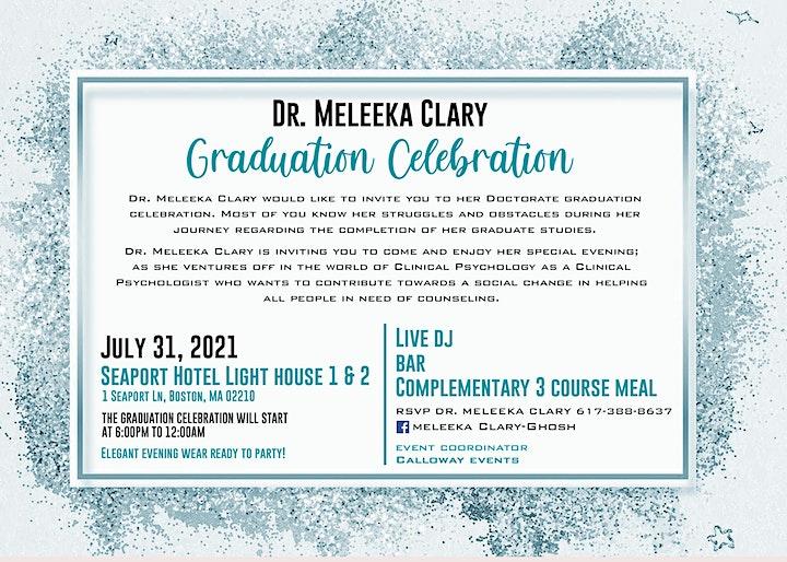Dr. Meleeka Clary Graduation Celebration image