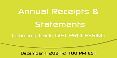 Sargent Academy: Annual Receipts and Statements tickets
