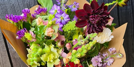 British  grown flowers handtied bouquet workshop tickets