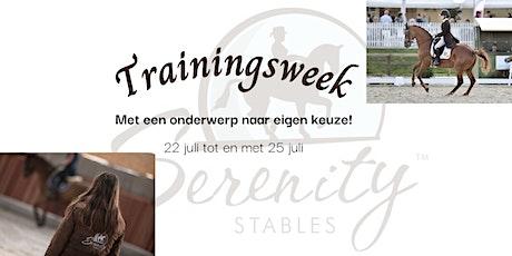 Trainingsweek: onderwerp naar jouw keuze! tickets