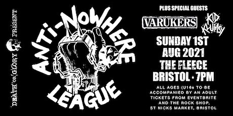 Anti-Nowhere League Live at the Fleece Bristol tickets