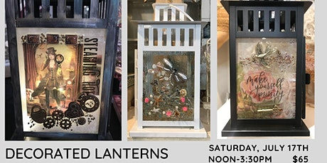 Decorating Lanterns with Resin tickets