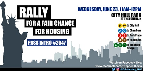 Fair Chance for Housing Rally: Pass Intro 2047! tickets