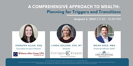 A Comprehensive Approach to Wealth: Planning for Triggers and Transitions tickets