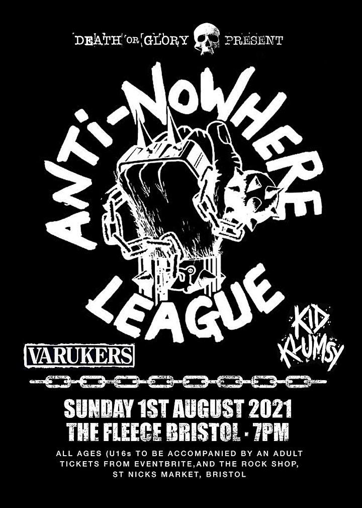 Anti-Nowhere League Live at the Fleece Bristol image