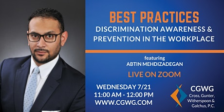Best Practices: Discrimination Awareness & Prevention in the Workplace tickets